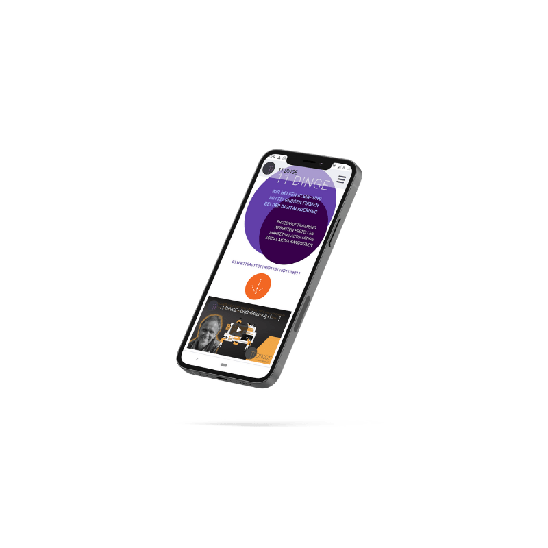 Mobile First Webseite